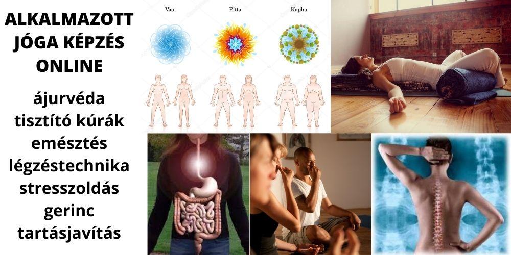 Alkalmazott jóga képzés online – tisztítókúra, ájurvéda, stresszkezelés, tartásjavítás
